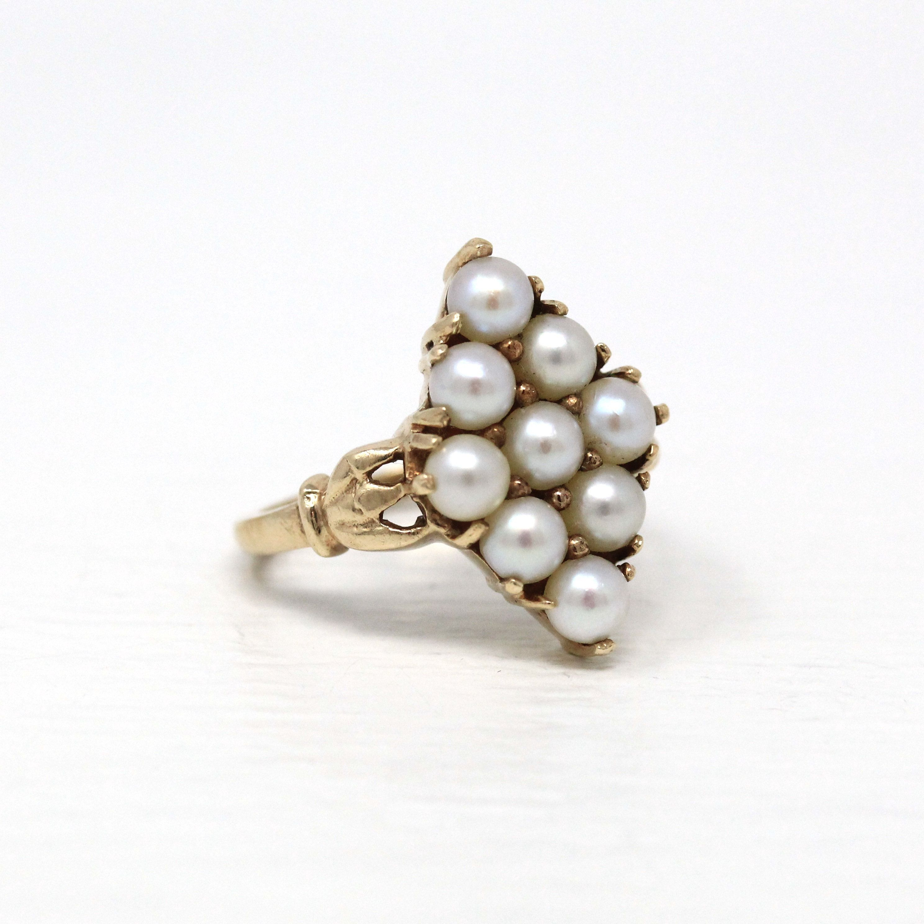 Daisy Chain ~ Cultured Opal Statement Ring