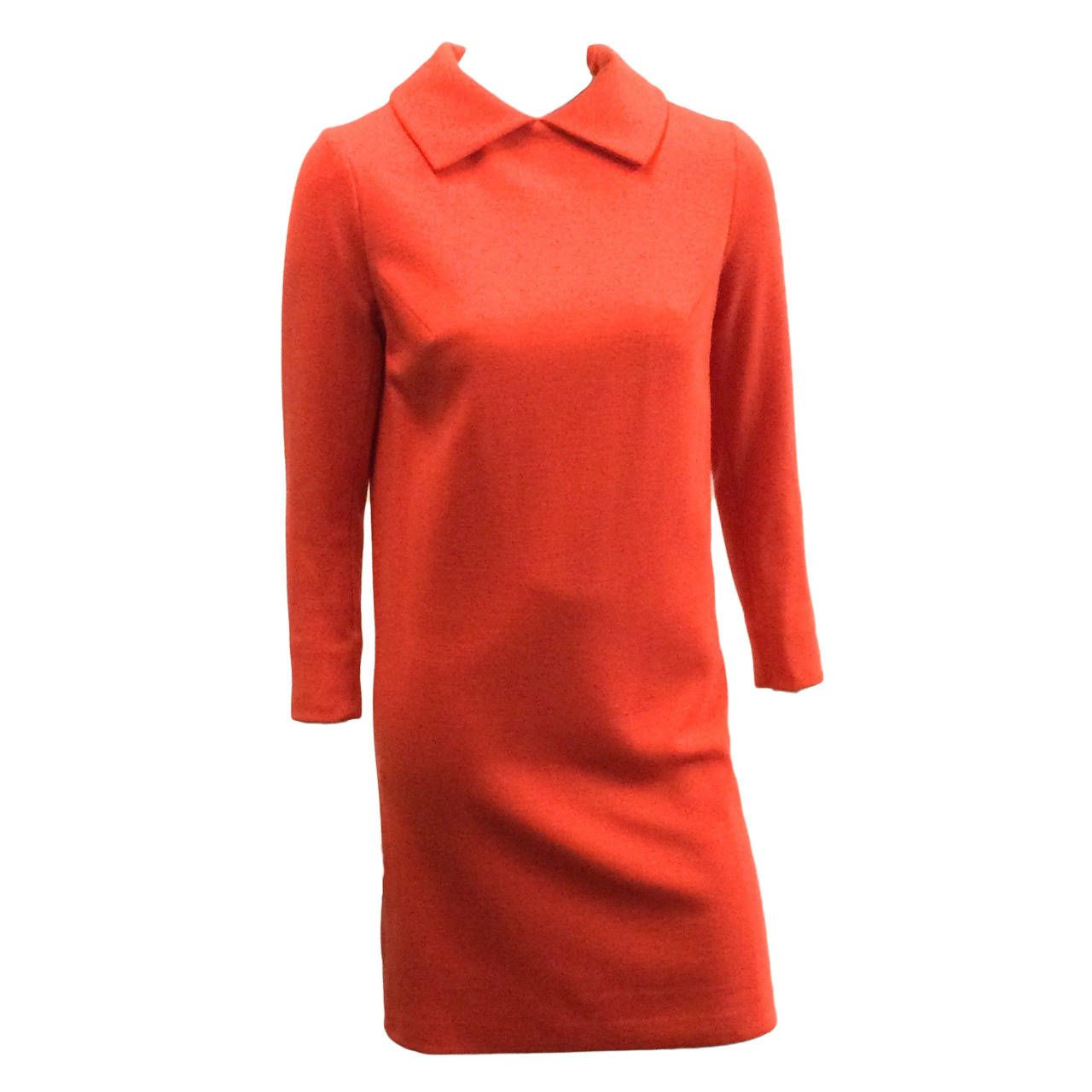 Bill blass for maurice rentner s chemise wool dress from a