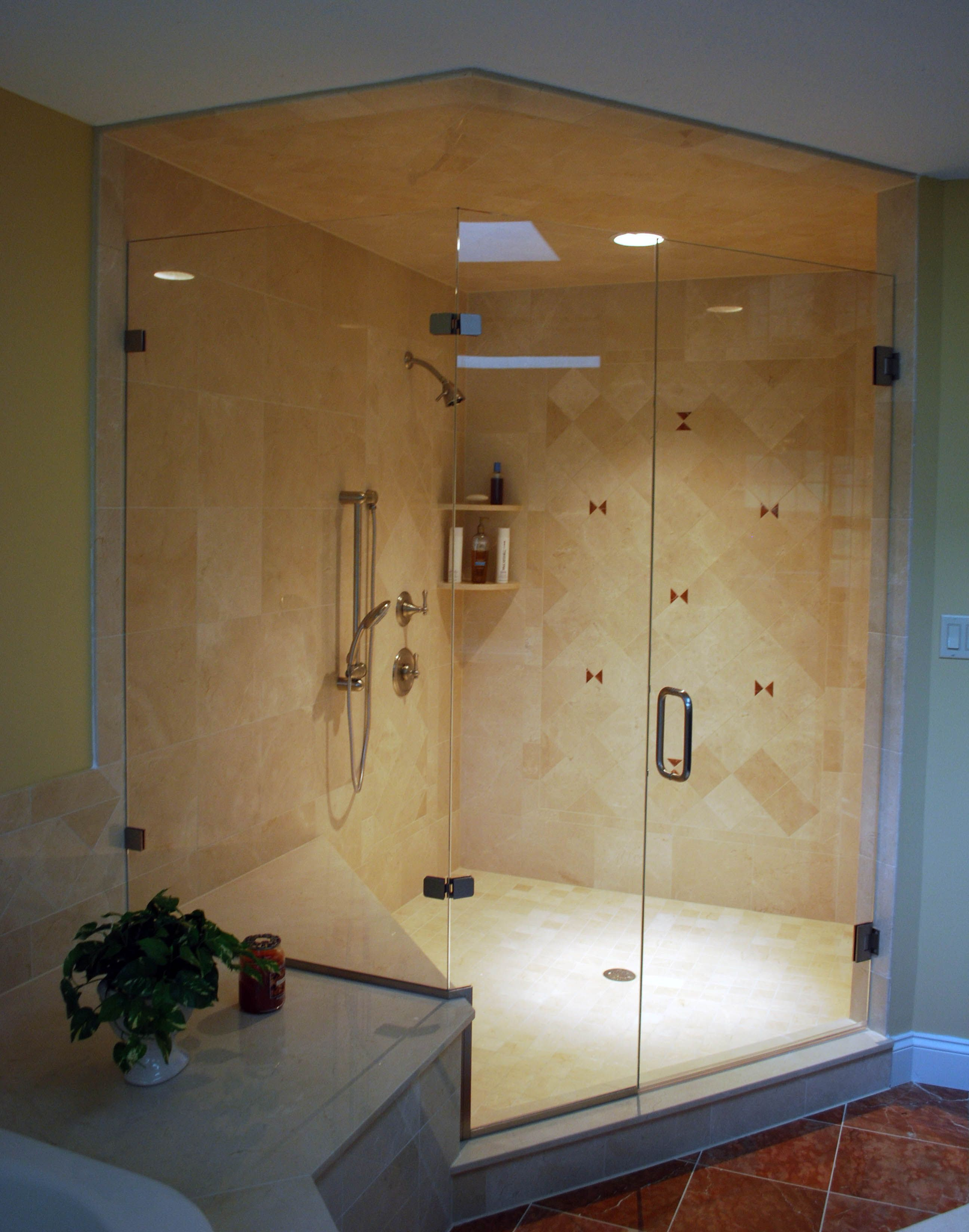 how to build shower enclosure