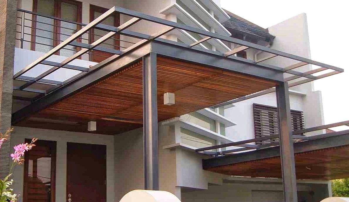 23 Model Kanopi Terbaru Baja Ringan Rumah Minimalis 2017 Dekor