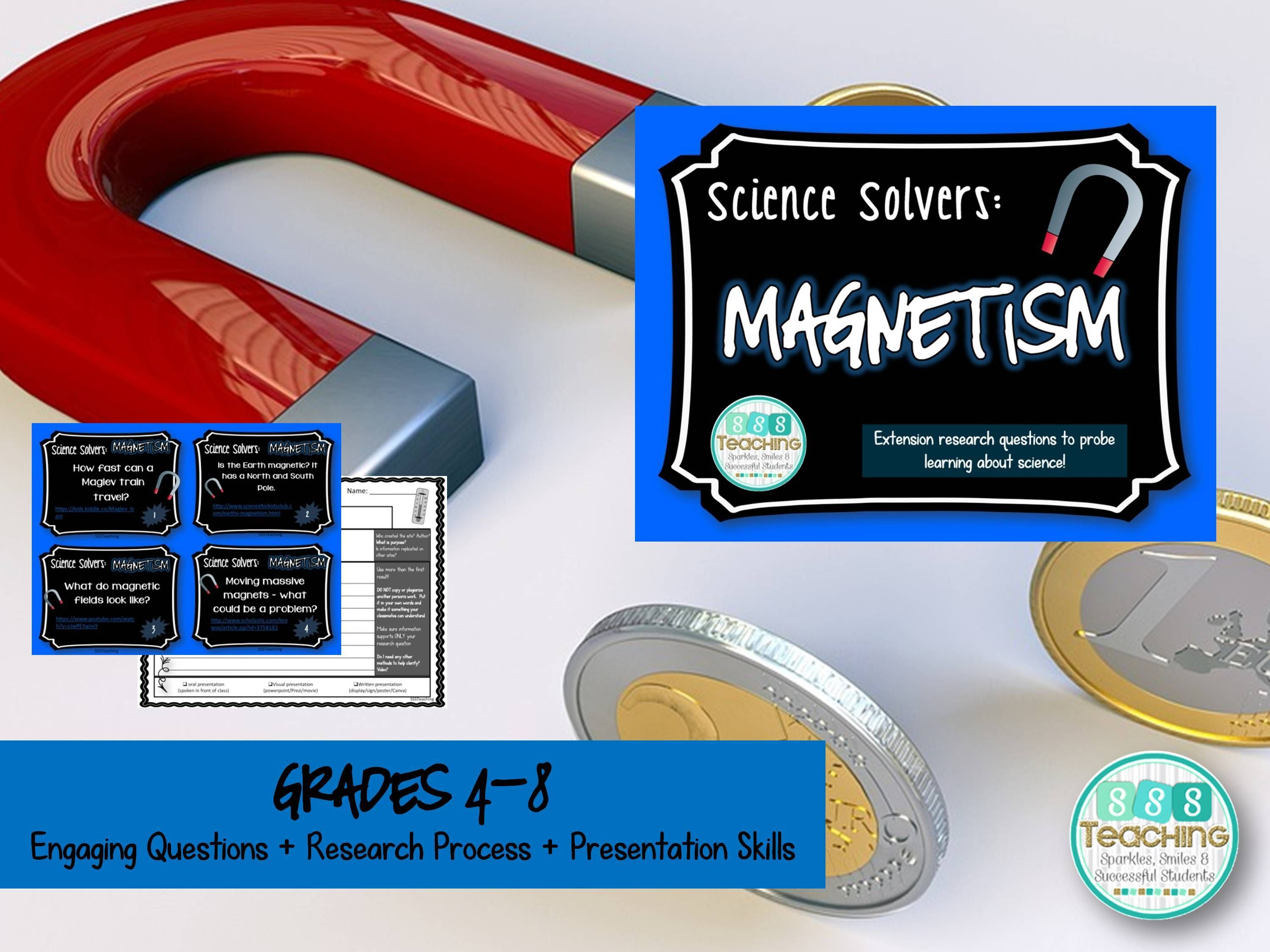 Science Solvers Magnetism Research Cards