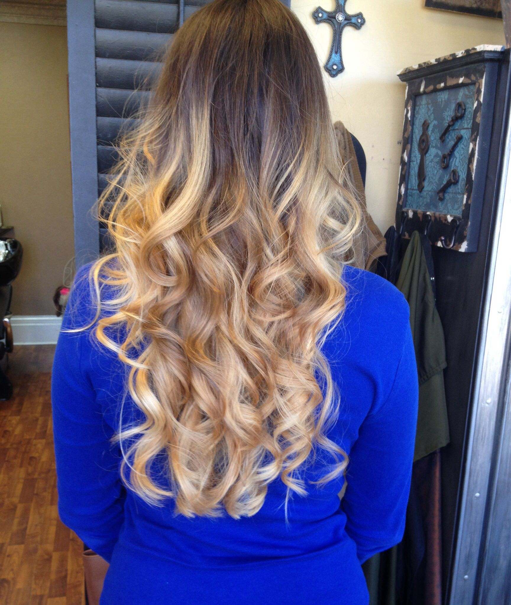 Ombre Hair Blonde Brown Curls Ombre Long Hair Long Layers
