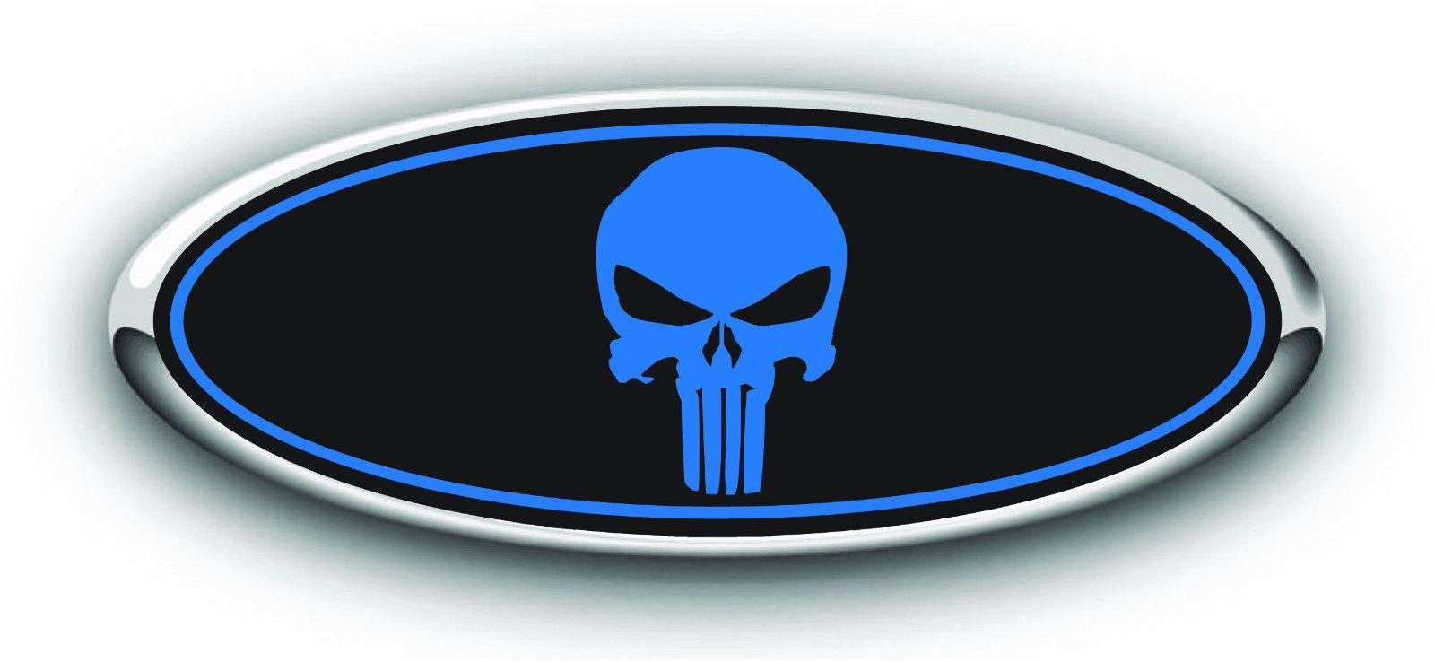 American HILLBILLY Flag FORD JEEP Front Back Hood Grille Emblem Oval Decal Badge