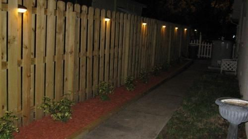 What do you think of this lighting for the fence? & What do you think of this lighting for the fence?   DS Garden ...