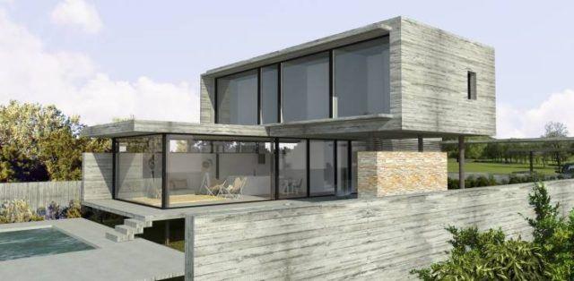 Fotos fachadas casas mas bonitas modernas del mundo casa for Casa minimalista de una planta