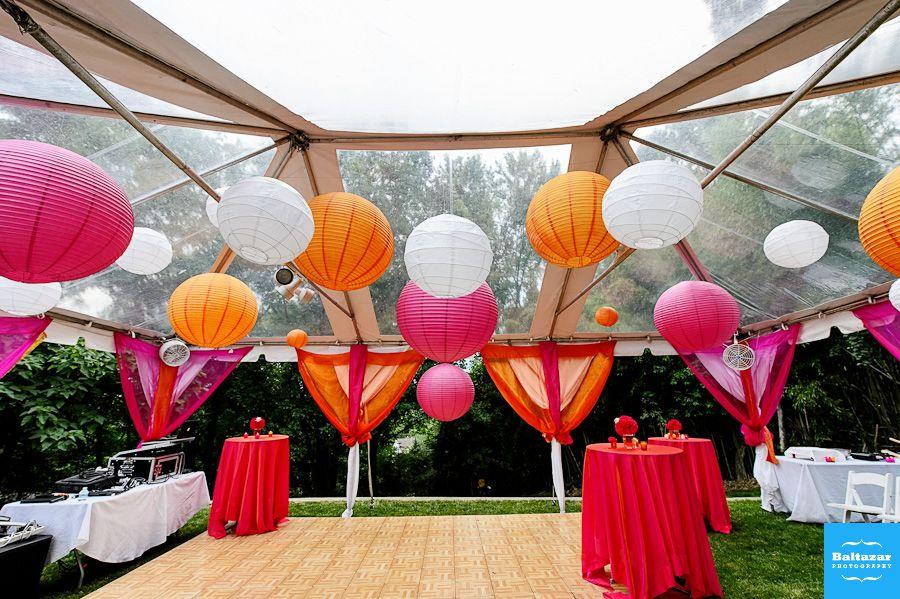 Perfect Sangeet Mehndi And Garba Decor For Backyard Hall Tent Venue