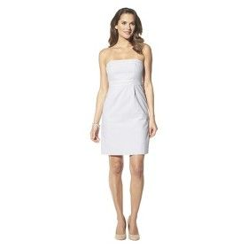 86fc4f165d0 Merona® Women s Seersucker Strapless Dress -...   Target Mobile ...