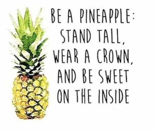 Be a pineapple! Pineapples also have something in them that can eat away at flesh, soooo......