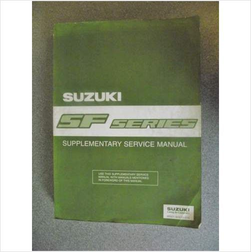 Suzuki Swift Sf Series Service Manual 1996 9950180e0001e