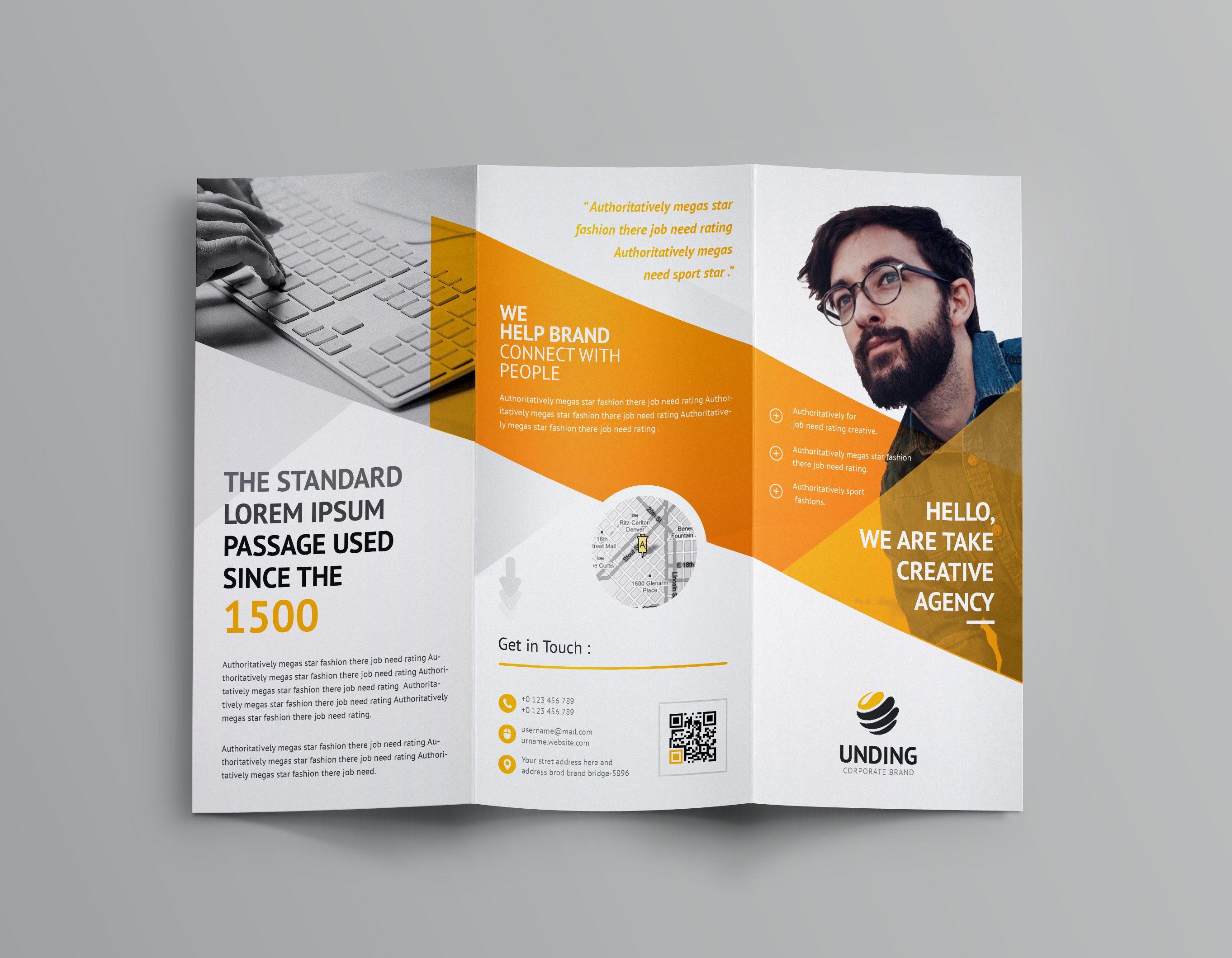 Cerberus Corporate Tri Fold Brochure Template Brochure Template