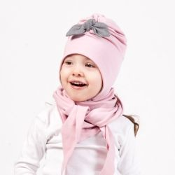 Two layers turban hat with straps. Baby hat is suitable for  spring or fall time.  You can make set from hat and triangle scarf. Availabe more colors and all sizes. #babybeanie #babyfashion #kidsfashion #kidsaccessories #hatwithstraps
