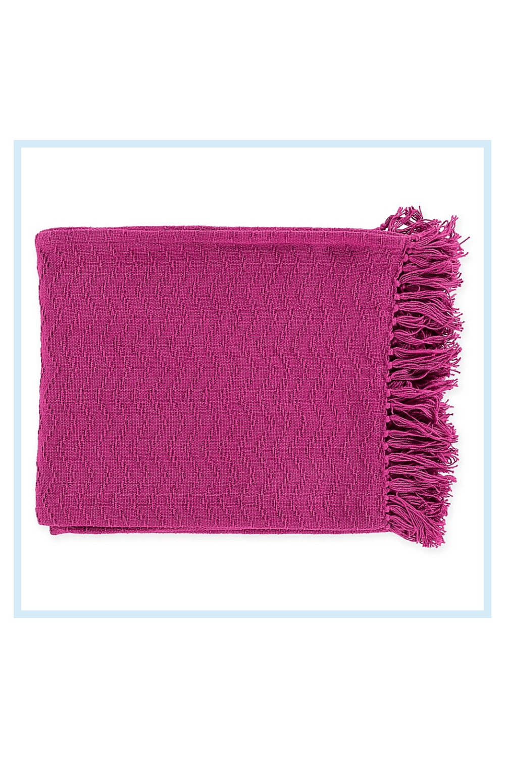 Photo of Surya Thelma Throw Blanket In Bright Pink