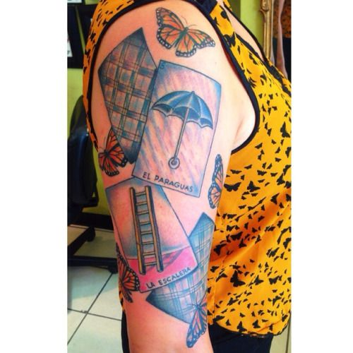 Loteria cards tattoo by courtney o 39 shea at let it bleed for Bingo tattoo ideas