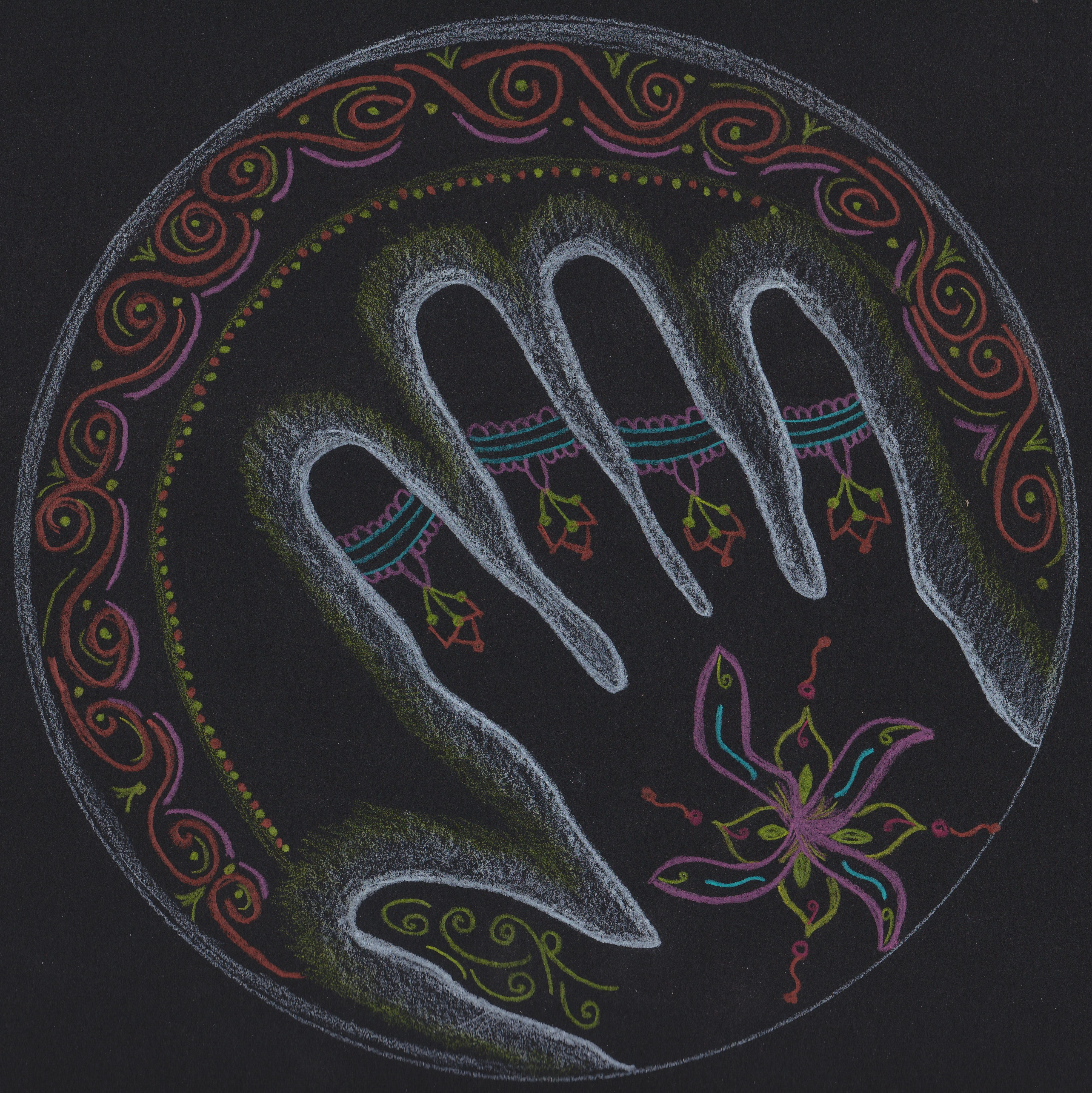 Hand Mandala By Jennifer Blumenthal Jenniferblumenthal