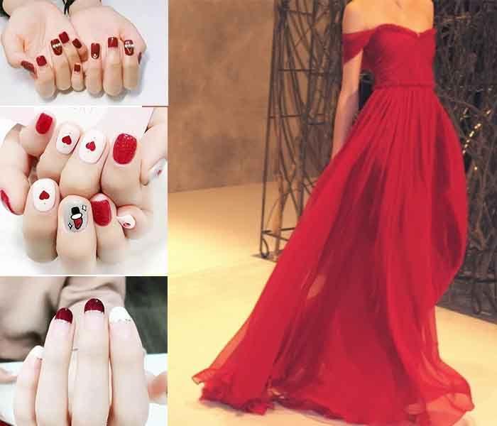 nail art for red prom dresses | dresses | Pinterest | Prom, Uk prom ...