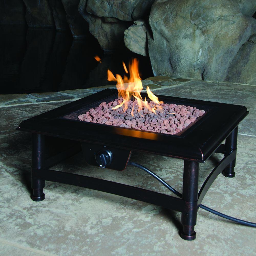 Bond Manufacturing Titan 34 In Square Steel Propane Fire Pit
