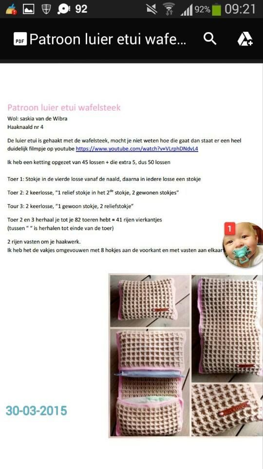 Luier Etui Haken Gratis Haakpatronen Crochet Crochet Baby En