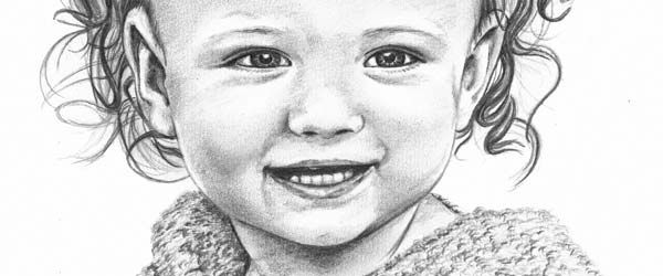 Pencil portrait of a baby girl Sketches Pinterest Pencil