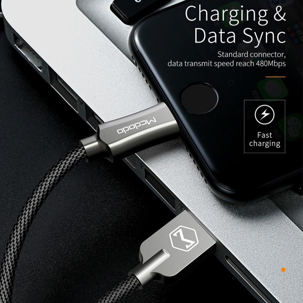 Mcdodo For iPhone Cable IOS 11 10 2.4A Fast Charger 1.2M 1.8