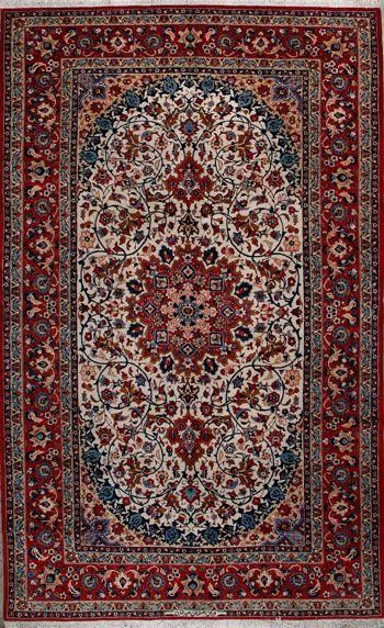 """Esfahan Persian Rug, Buy Handmade Esfahan Persian Rug 6' 7"""" x 10' 10"""", Authentic Persian Rug $4,666.50"""