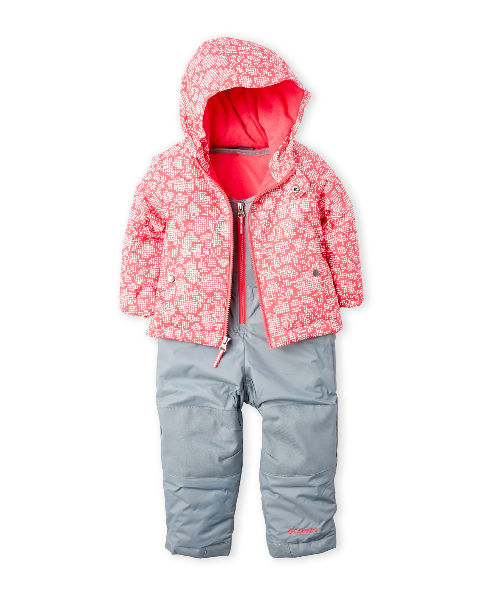 380469a64 Columbia (Toddler Girls) Two-Piece Frosty Slope Hooded Jacket & Snowsuit Set