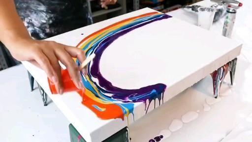 Reverse rainbow wave! Tie dye action!