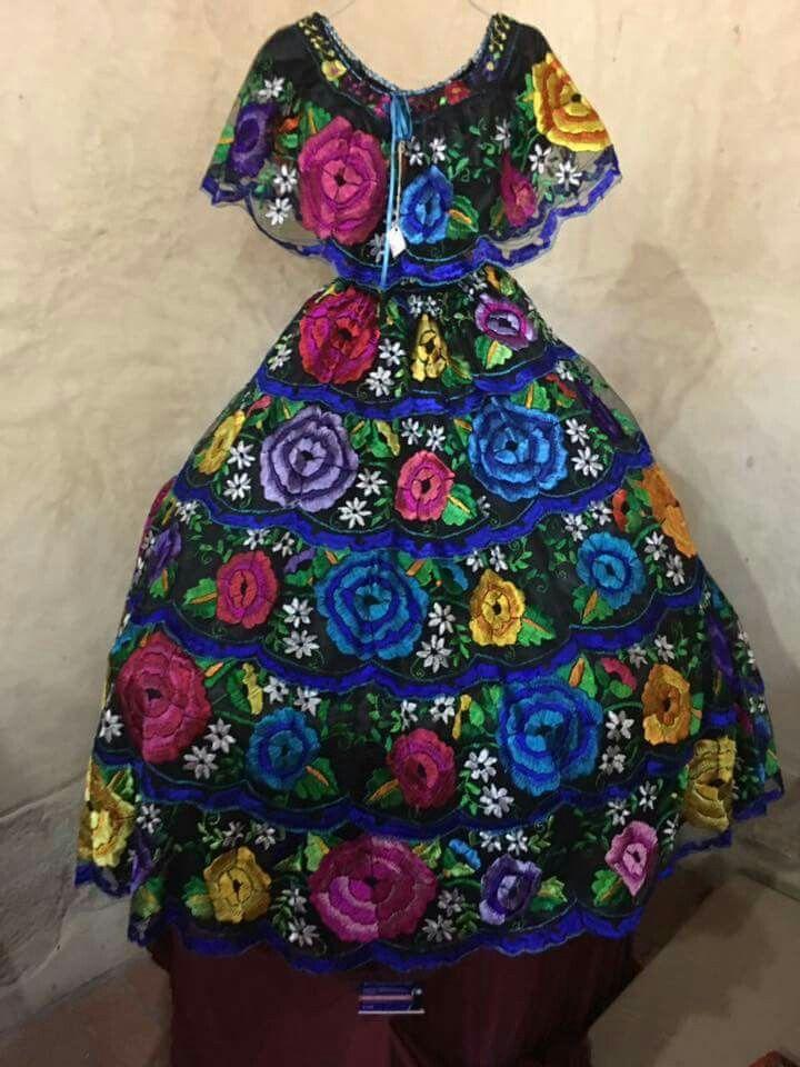 Vestido Chiapas En 2019 Vestidos Mexicanos Vestidos