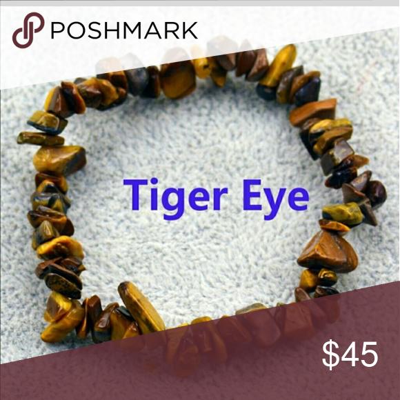 Raw Tigers Eye Bracelet Meaning In Description Tigers Eye Stone Is
