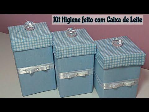 Kit Higiene Feito Com Caixa De Leite Reciclarte Youtube Caixa