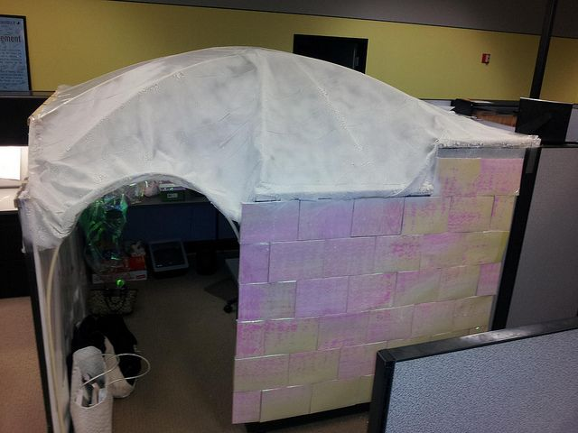 Igloo Cubicle | Things for work | Pinterest | Cubicle ...