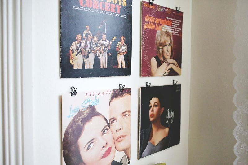 Great Way To Display Old Record Albums On The Wall Hang