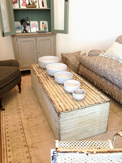 Vintage Rustic Beadboard Coffee Table A Little Slice Of Inspiration