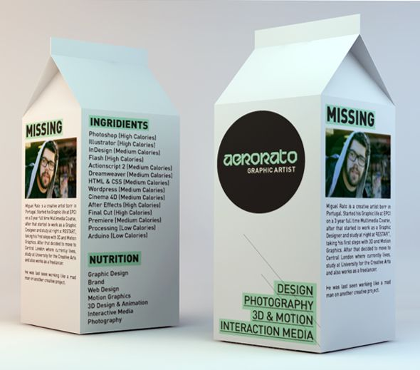 Employers Either Love Or Hate These Creative Resumes Milk box - artist agent sample resume