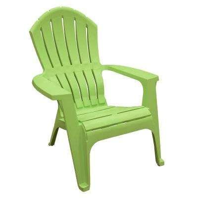 18 Realcomfort Lime Plastic Adirondack Chair