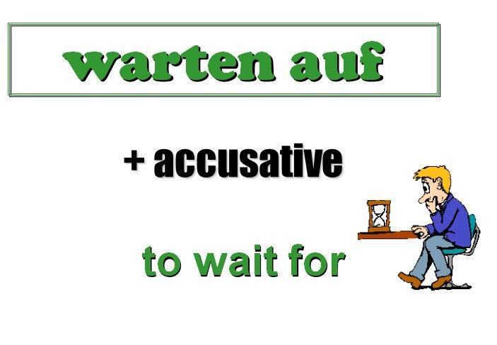 Wait Auf Deutsch