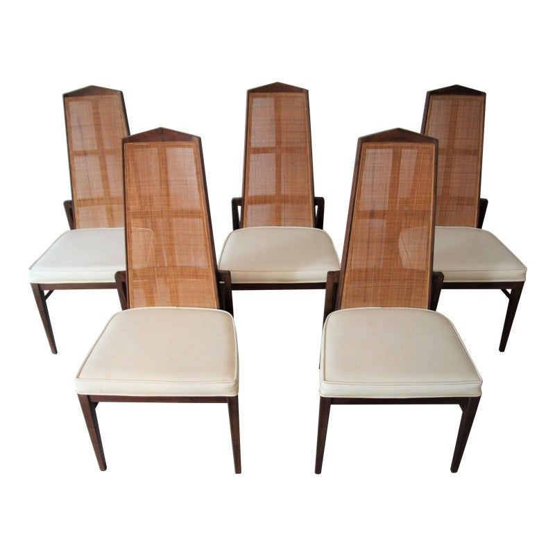 Mid Century Modern High Back Dining Chairs By Foster Mcdavid