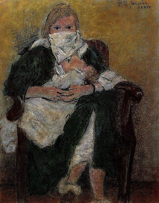 Pablo Picasso - Mère et Enfant (Marie-Thérèse Walter Emmitouffle ...