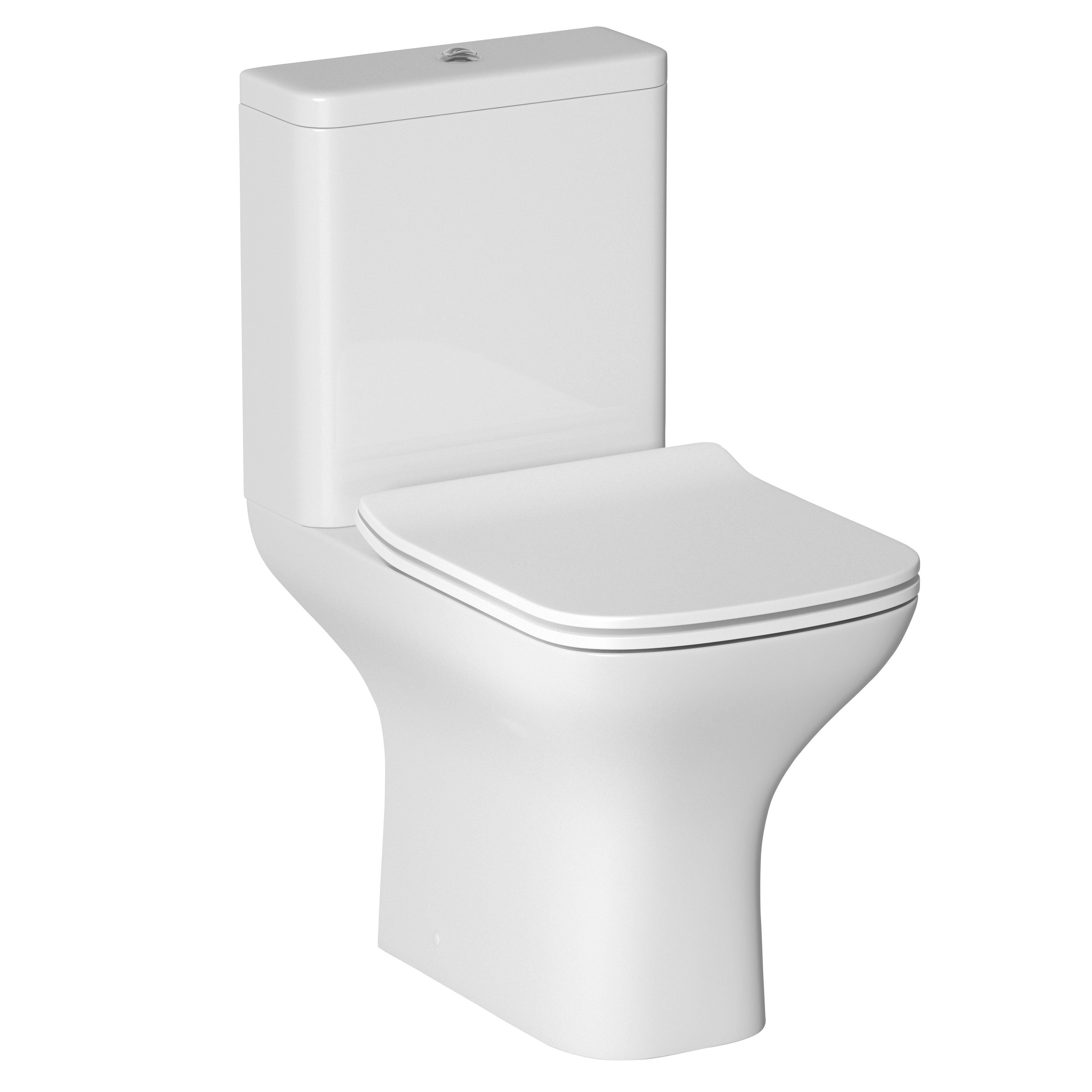 Amazing Cooke Lewis Lanzo Close Coupled Toilet With Soft Close Machost Co Dining Chair Design Ideas Machostcouk