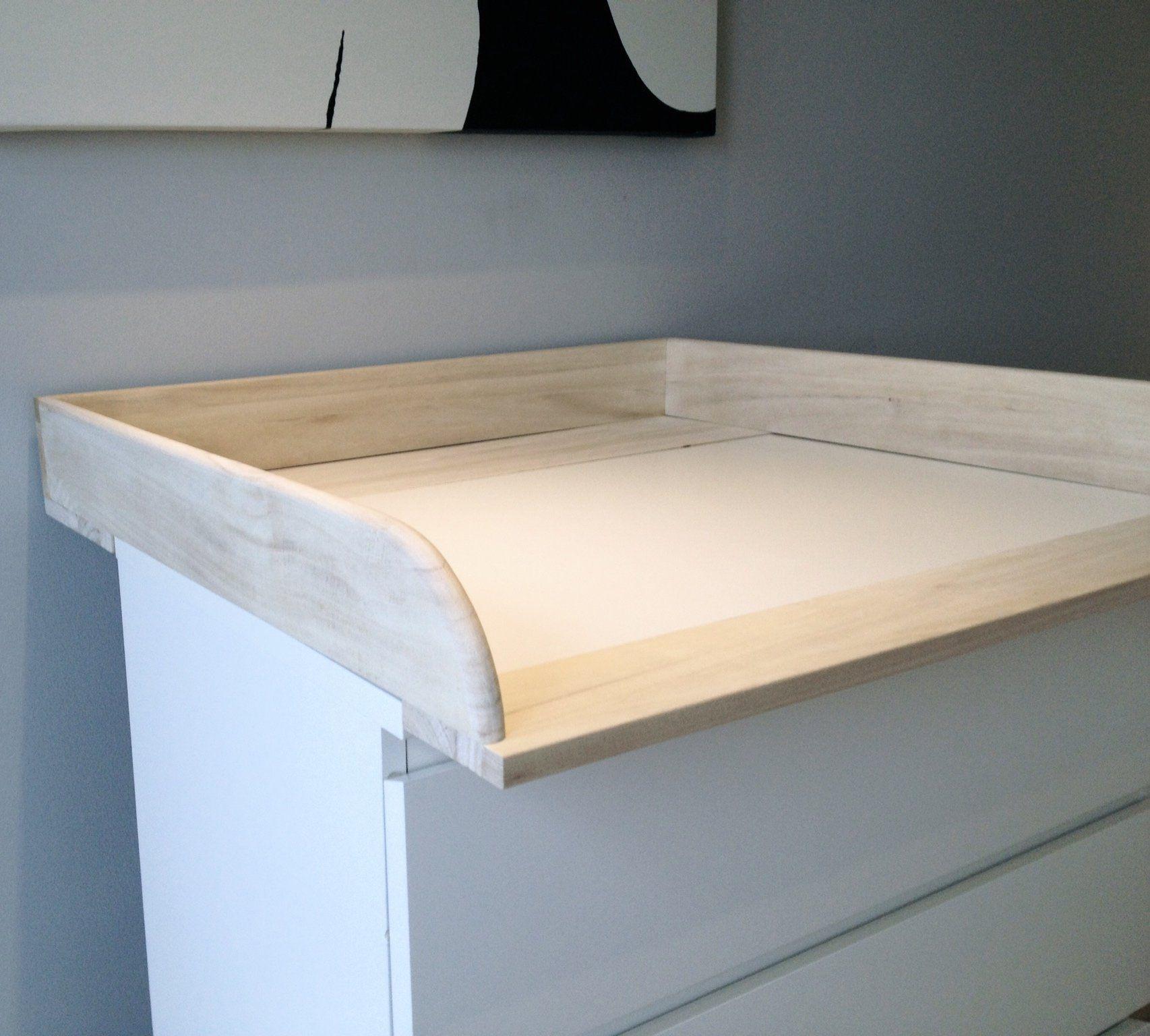 table langer en bois naturel pour commode ikea malm b b s pu riculture bebe