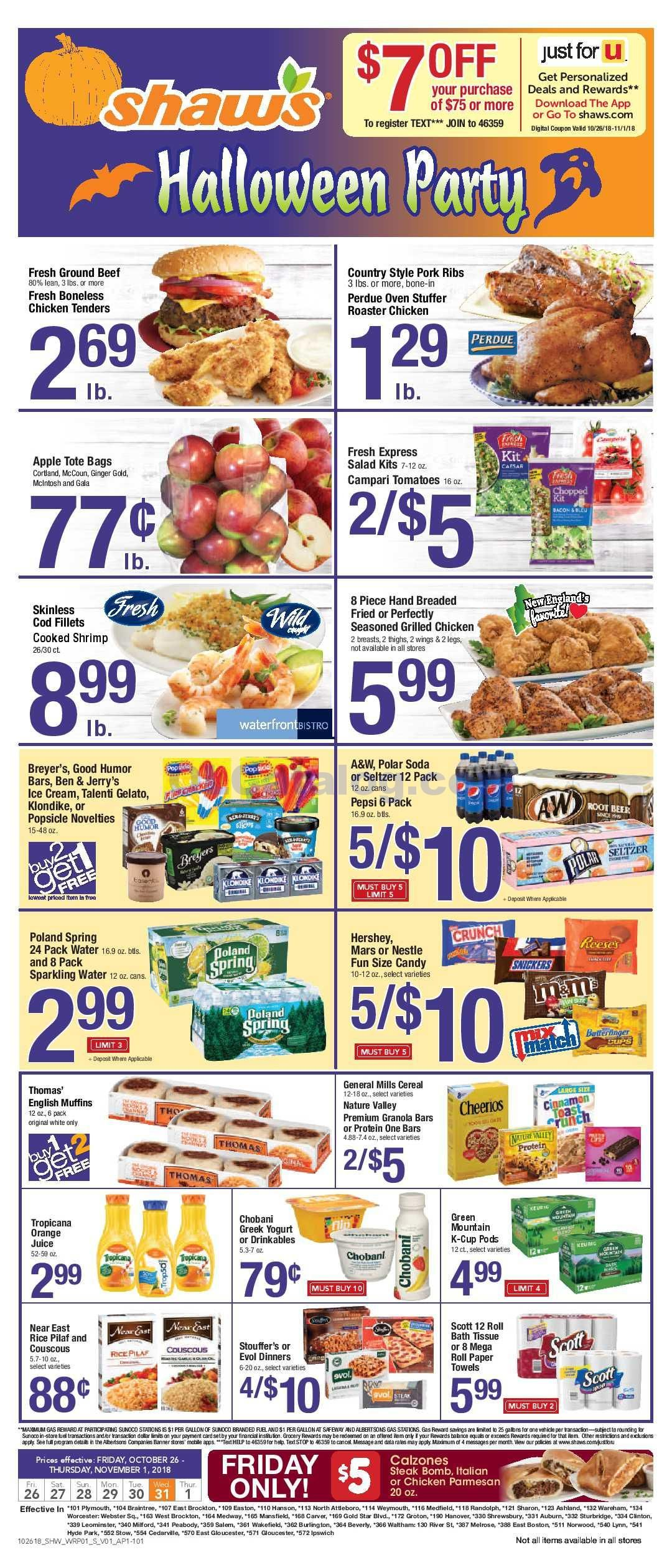 Shaws Circular October 26 November 1 2018 View The Latest Flyer And Weekly Circular Ad For Shaws Here Likewise You Can Weekly Ads Grocery Savings Grocery