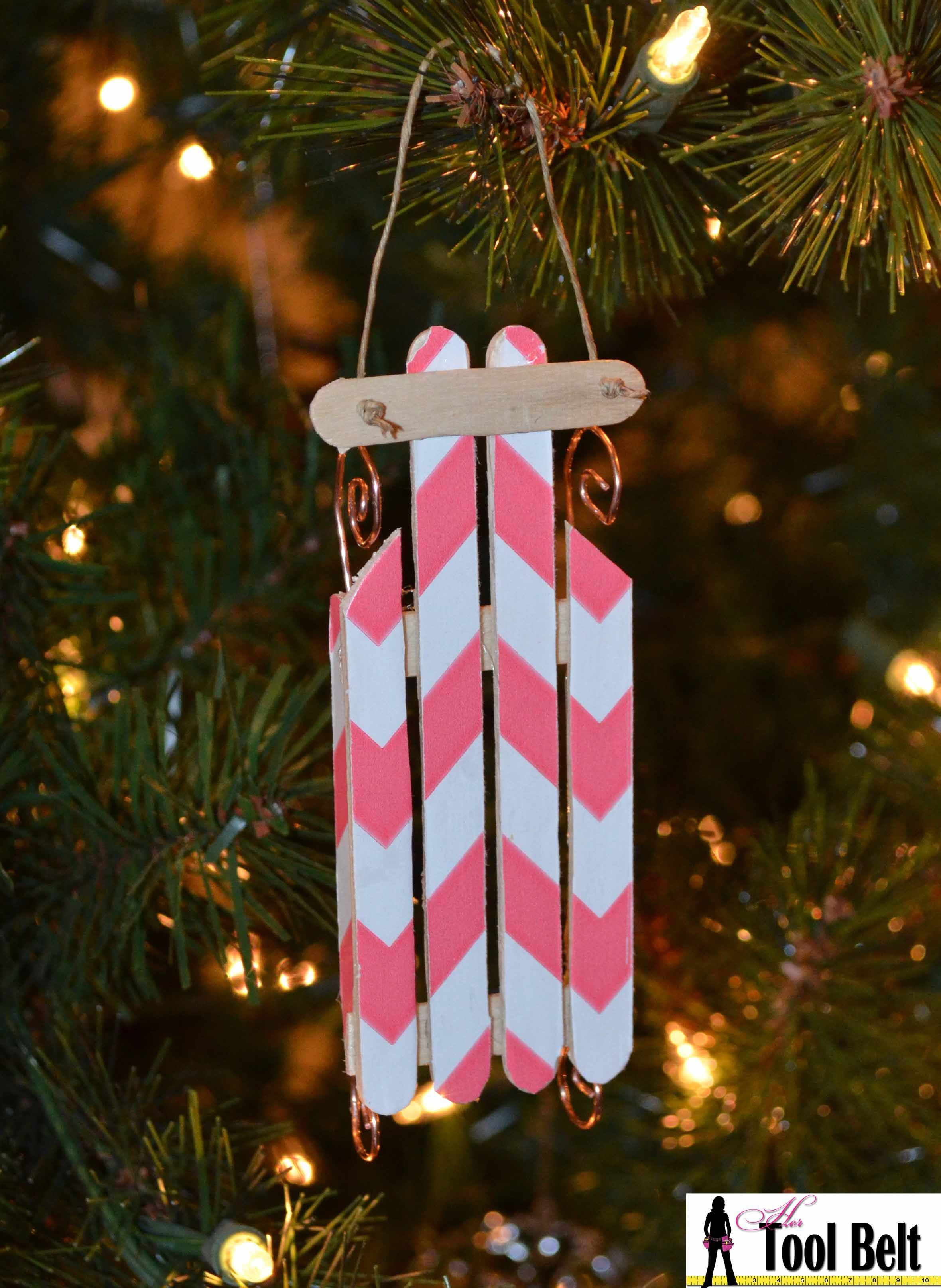 Th day of christmas wood sled ornament ornament woods and