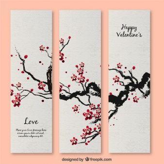 桜の花バレンタインカード