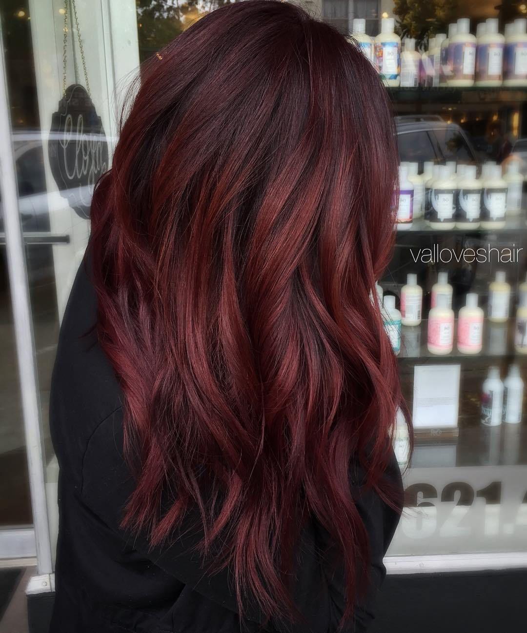 45 Shades Of Burgundy Hair Dark Burgundy Maroon Burgundy With Red Purple And Brown Highlights Dark Burgundy Hair Hair Color Auburn Hair Styles