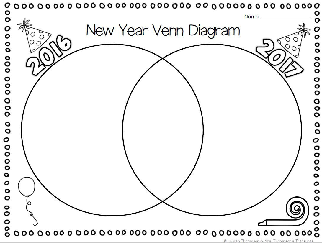 Free new year venn diagram activity venn diagrams activities free new year activity venn diagram for students to reflect on the past year and pooptronica Images