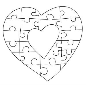 Heart Frame Puzzle Scroll Saw Scroll Saw Patterns Scroll Saw