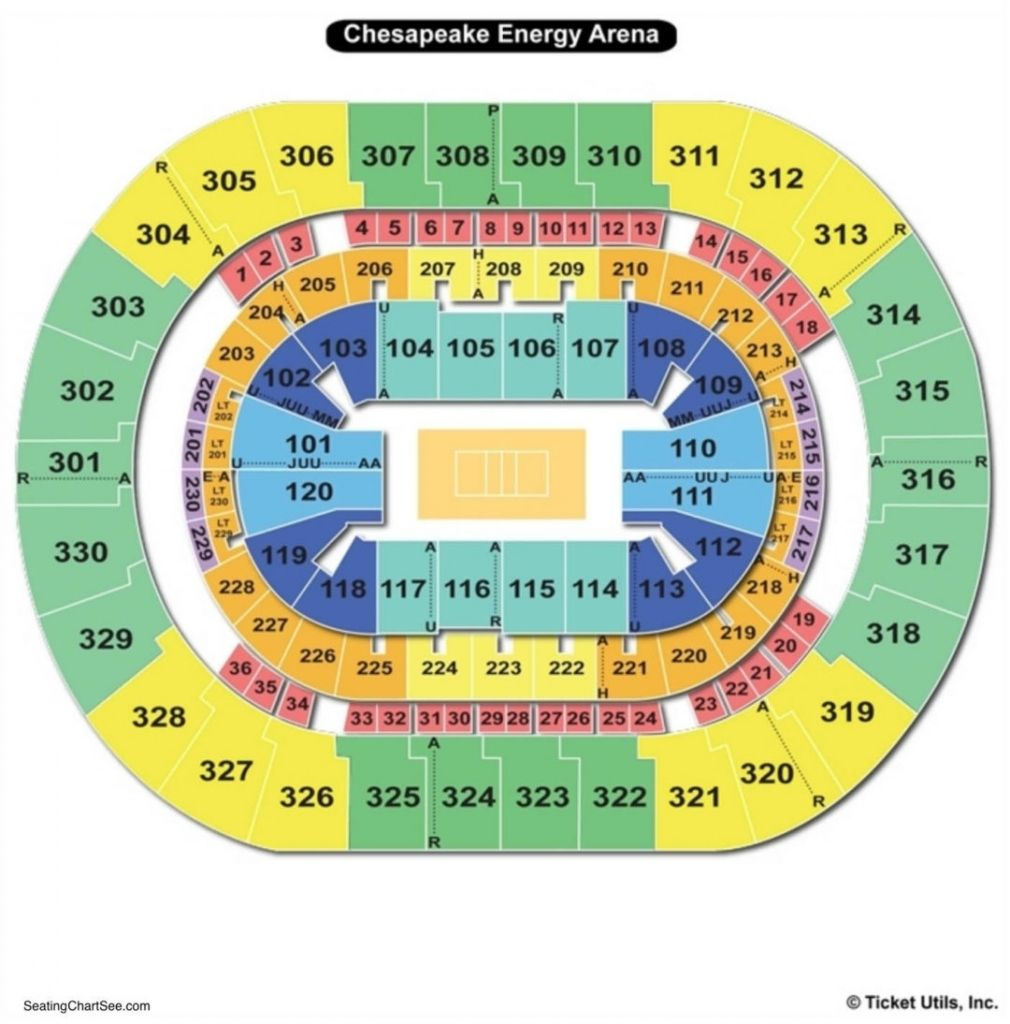 Thunder Seating Chart In 2020 Seating Charts Chart Okc Thunder