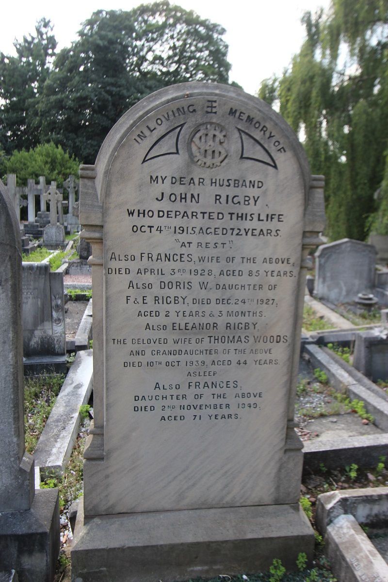 Eleanor Rigby Folk Figure. In the 1980s, the grave of
