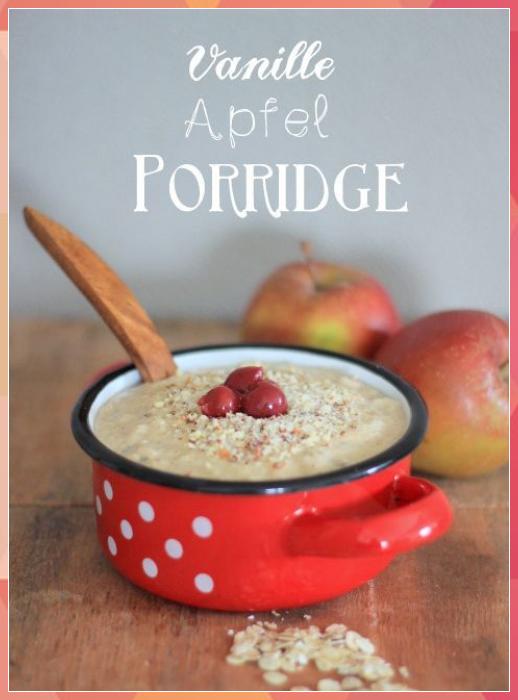 Apfel-Vanille-Porridge (2 Personen) mit thermomix:  3 Äpfel, 60g Haferflocken, ... #Apfel-Vanille-Porridge #Personen) #mit #thermomix: #Äpfel, #60g #Haferflocken, #...