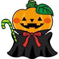 かわいいハロウィンかぼちゃおばけ秋の無料イラスト 雨 ハロウィン
