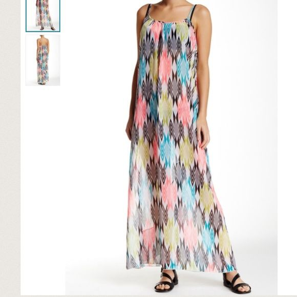 Nwt Volcom maxi dress no trades please No flaws new bust is 18 length is 60 but can be shortened the straps are adjustable Volcom Dresses Maxi